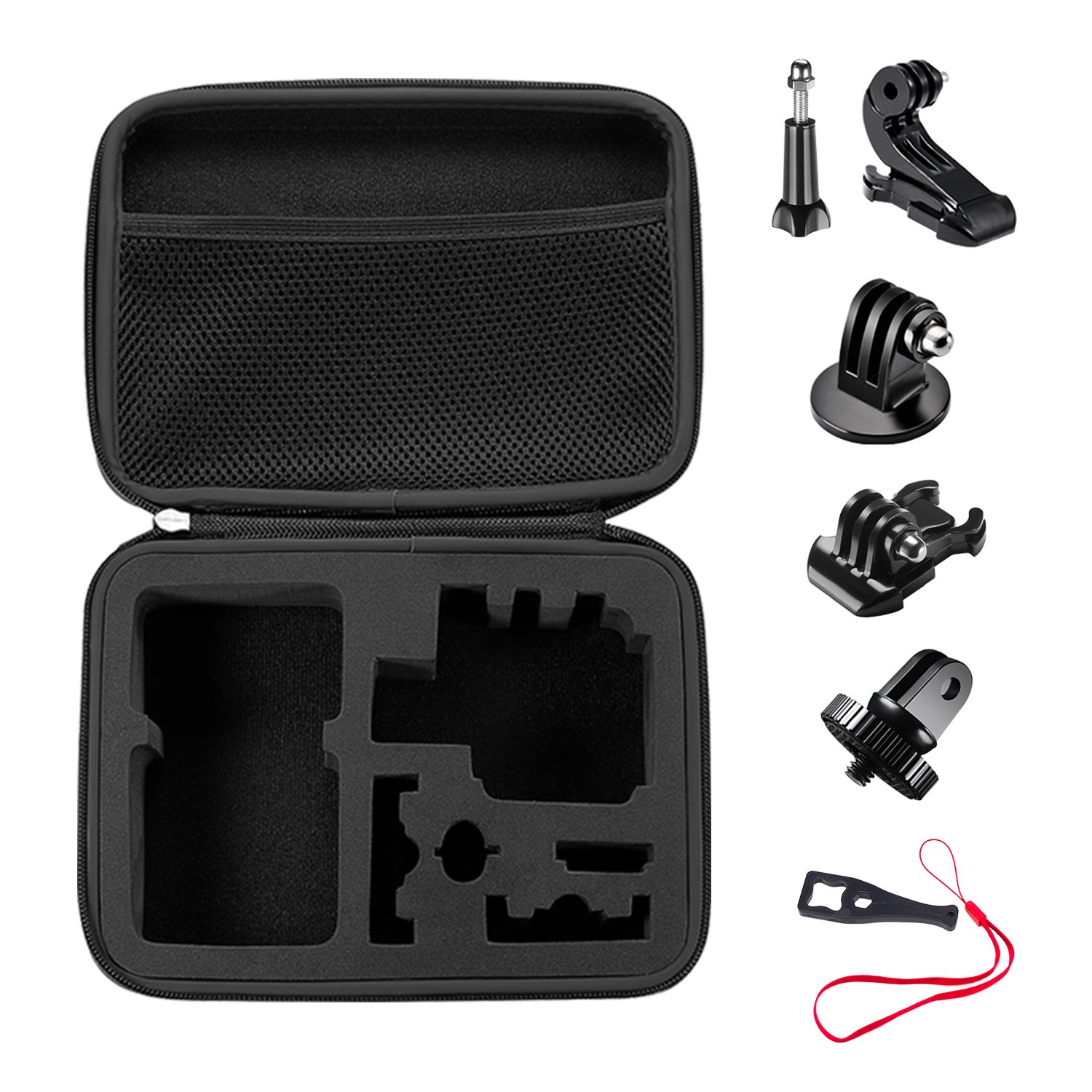 Bestter 13-in-1 Mount Accessories Kit for GoPro Hero 5 Session/Hero Session/Hero 6 5 SJCAM DBPOWER VicTsing AKASO Rollei Lightdow Sony Sports DV and More - (6)J-Hook Buckle; (6)Thumb Screw; (1)Wrench 20181014