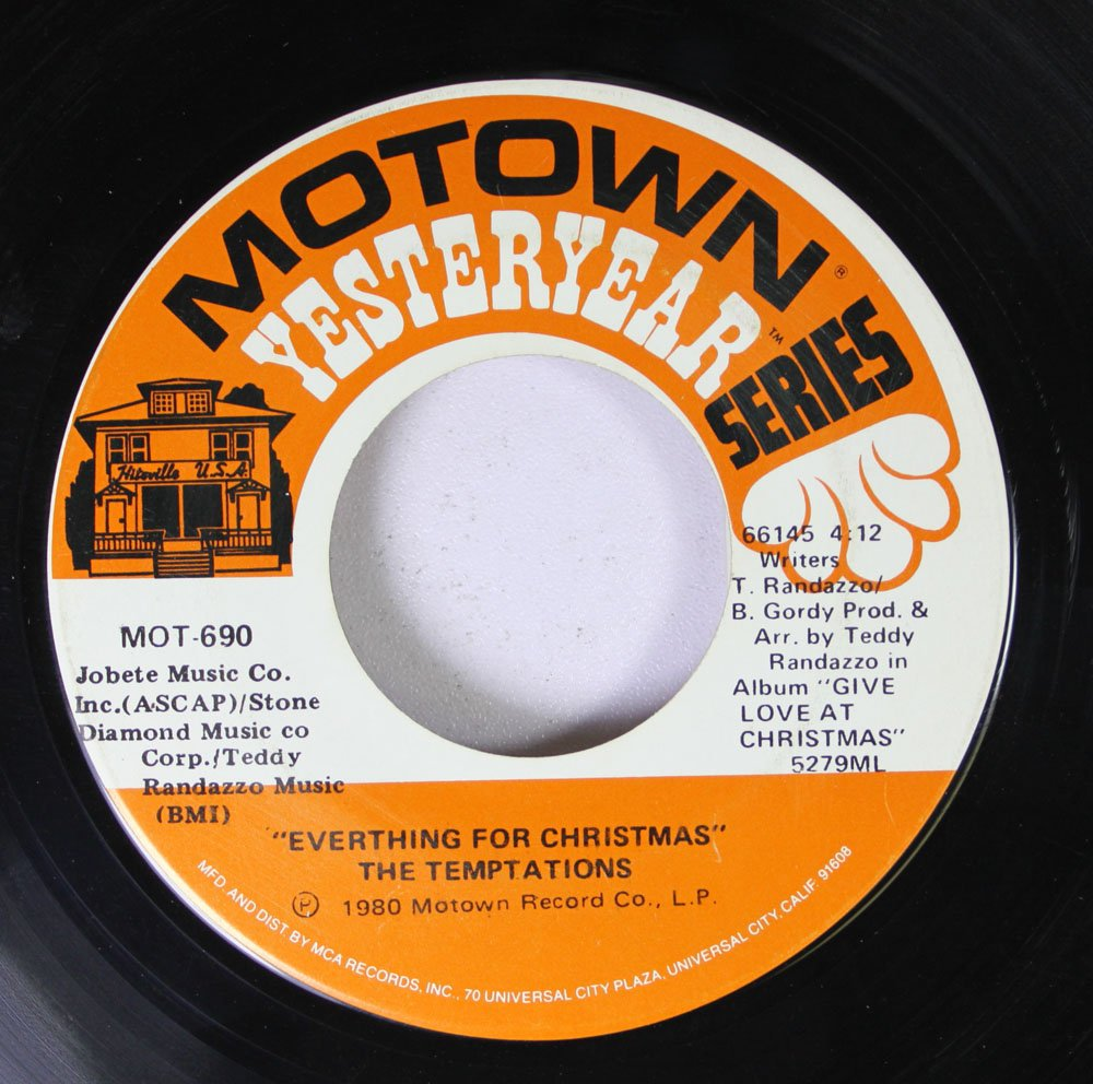 THE TEMPTATIONS - Silent Night / Everything For Christmas 45 rpm ...