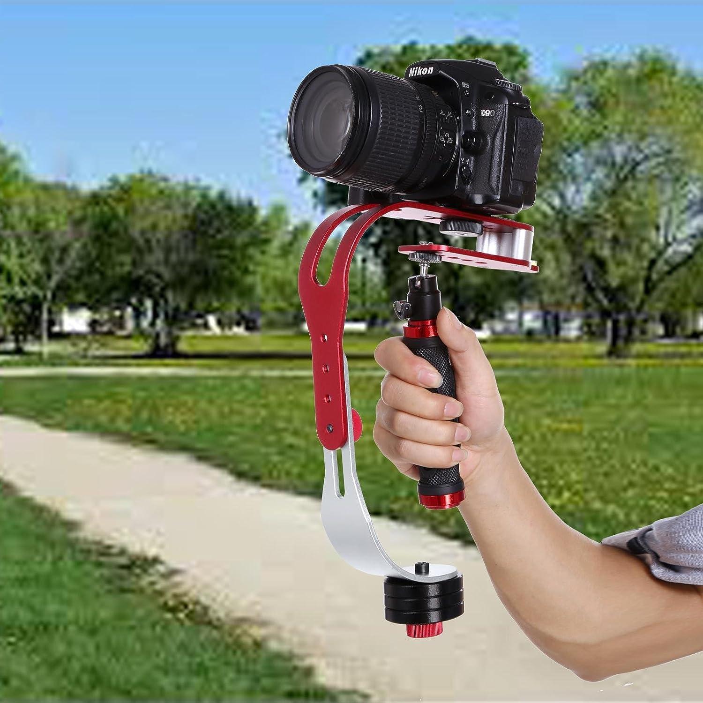 Steady Cam Video Stabilizer Cam for GoPro DSLR DV SLR Digital Camera Camcorder Canon Nikon Sony Panasonic with Smartphone Holder Handheld Steadicam