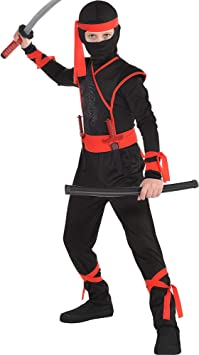 AMSCAN Shadow Ninja Halloween Costume for Boys, Medium, with Included Accessories
