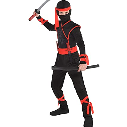 Amazon.com: Disfraz Ninja de Sombra para Niños, talla M (8 ...