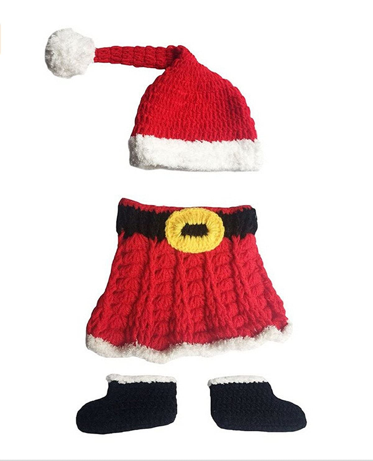 25bb5f87772ca Jastore Infant Newborn Costume Photography Prop Santa Claus Knitted Outfit