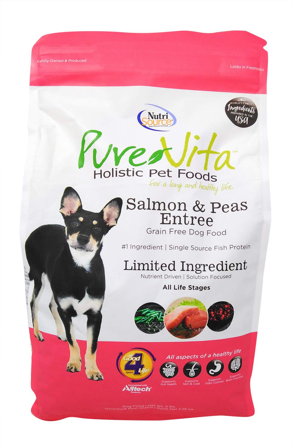 PureVita GF Salmon and Pea Food for Dogs 5 Lb
