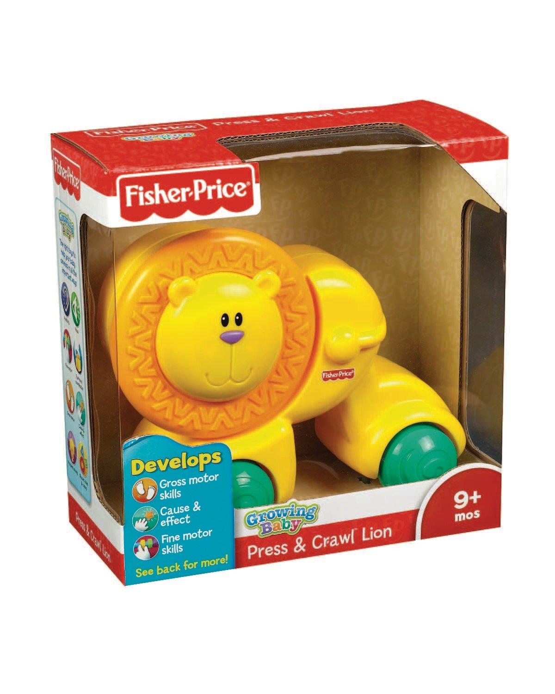 Fisher Price Y2775 Press And Go - León de juguete con ruedas: Amazon.es: Bebé