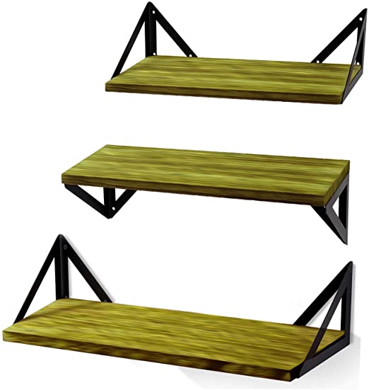 2PCS Set Wall Shelves Shelf Floating Display Decor Home Wood Wall Mount