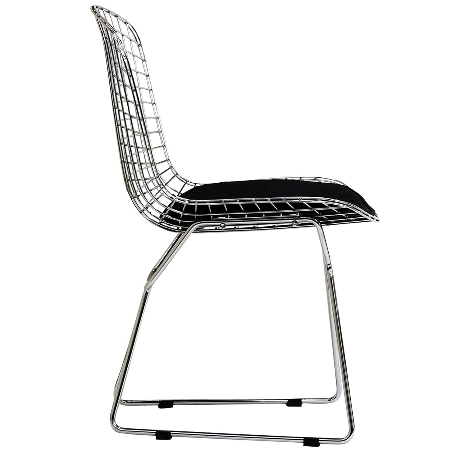 Amazon Modway Bertoia Style Side Chair with Black Cushion
