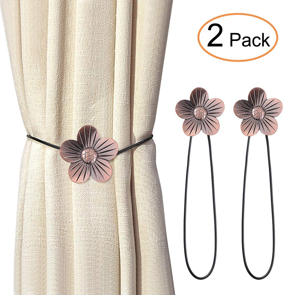 Green Magnetic Curtain Tiebacks 2 Pieces Cute Cat Magnetic Curtain Tiebacks Curtain Clips Rope Holdbacks Curtain Holder Buckles with Strong Durable Magnet for Home Office Dorm