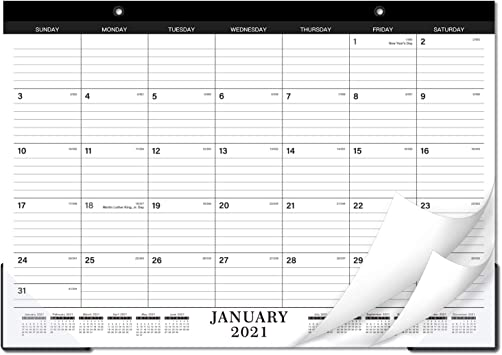 Amazon Com 2021 2022 Desk Calendar Desk Wall Calendar 2022 2022 With Transparent Protector Standard 17 X 12 Jan 2021 Jun 2022 Perfect For Daily Schedule Planner Ruled Blocks Office Products