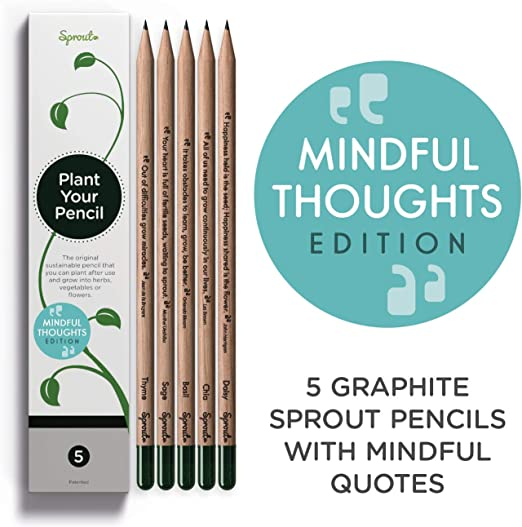 Purple Recycled HB Pencils 3 Pack by Remarkable Eco Factory