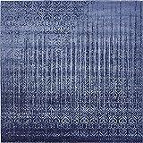 Unique Loom Del Mar Collection Contemporary Transitional Blue Square Rug (8' 0 x 8' 0)