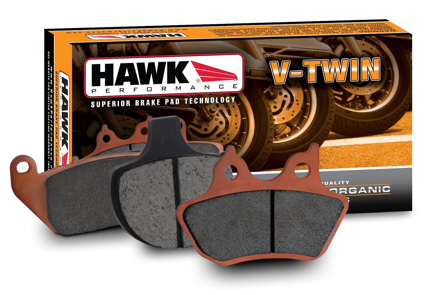 Hawk Performance HMC140HH Metallic Motorcycle Brake Pad Set