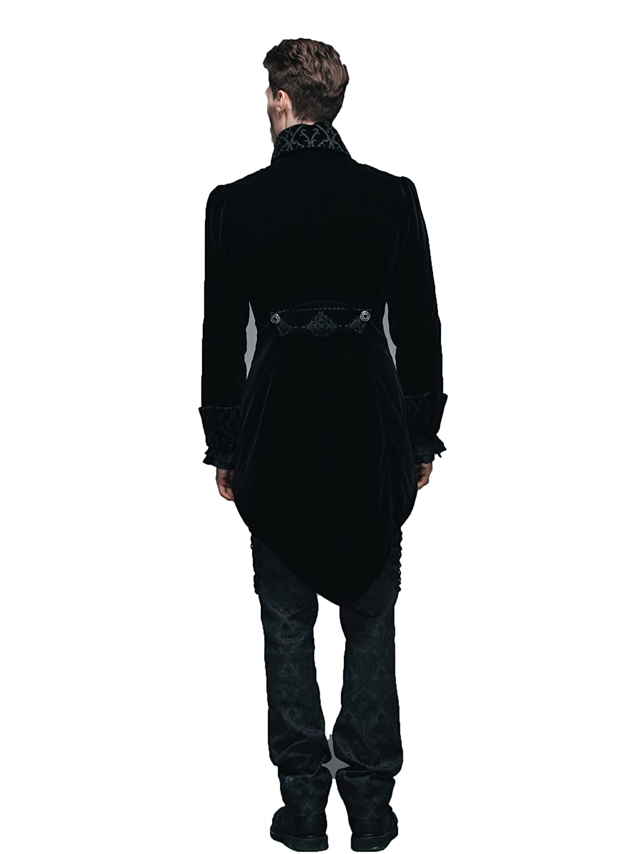 10363ed83 Devil Fashion Gothic Men's Swallow Tail Jacket Steampunk Autumn Winter Coats:  Amazon.co.uk: Clothing