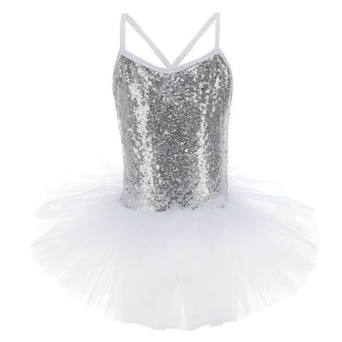 2fe2a8ef3618 OwlFay Girls Kids Sequined Camisole Ballet Dance Tutu Dress ...