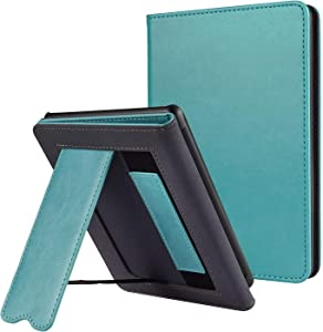 CoBak Kindle Paperwhite Case with Stand - Durable PU Leather Smart Cover with Auto Sleep Wake, Hand Strap Feature, ONLY Fits All New Kindle Paperwhite 10th Generation 2018 Released,Sky Blue
