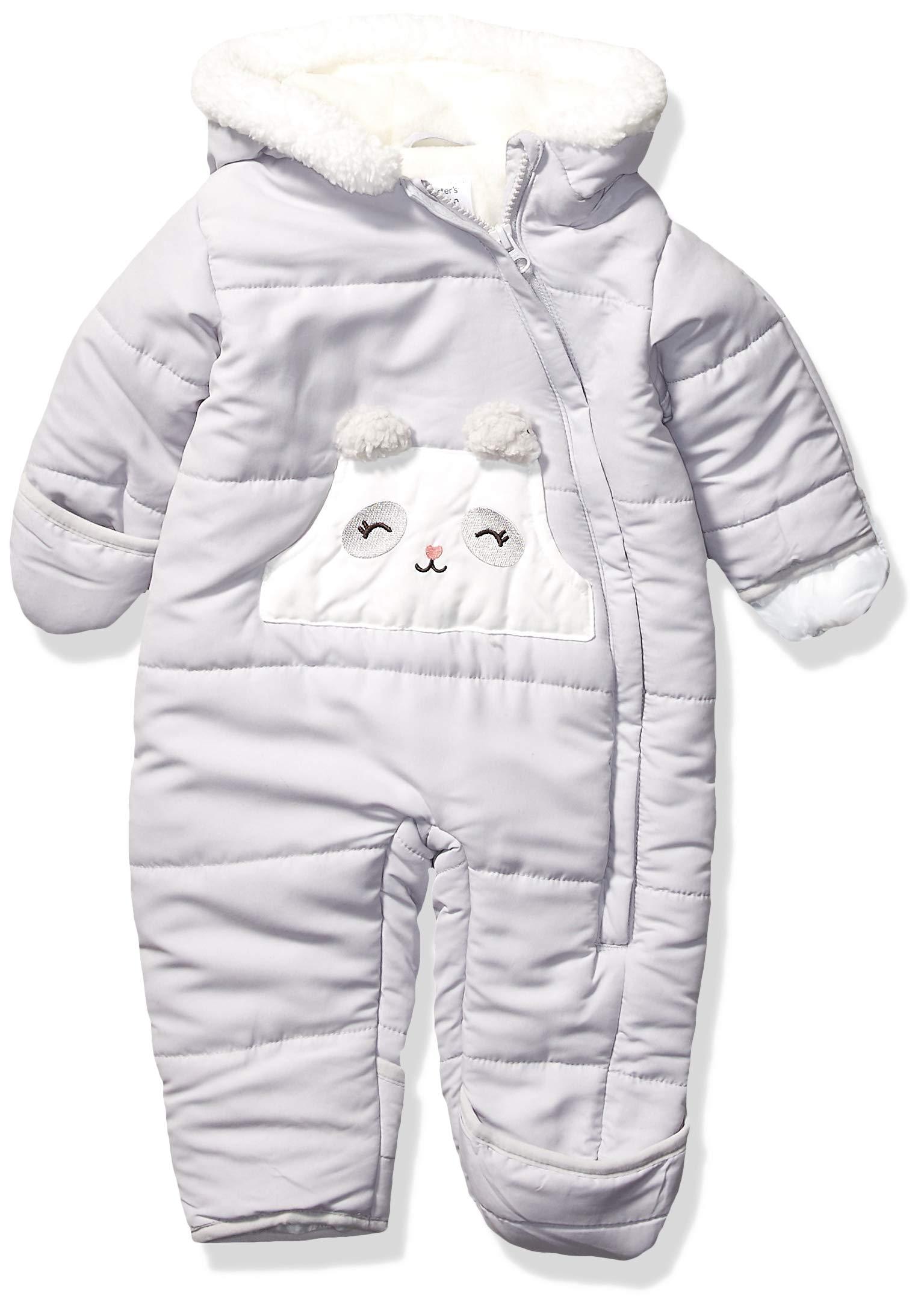Carter's Baby Girls Pram Suit, Gray Panda, 6/9 Months by Carter's