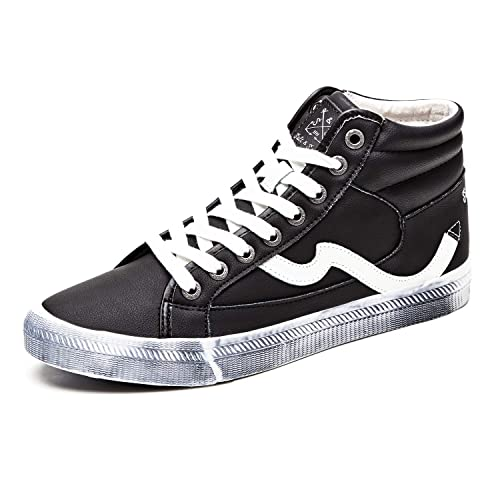 c46efd75c500f Unisex Adults Fashion Sneakers High Top Lace Up Casual Shoes