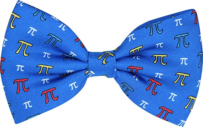 Pi Symbol Blue Novelty Bow Tie Amazon Clothing