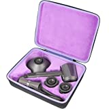 co2crea Hard Travel Case Replacement for Dyson Supersonic Hair Dryer Hairdryer (Black Case + Purple Inner Box)