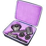 co2crea Hard Travel Case for Dyson Supersonic Hair Dryer Hairdryer (Black Case + Purple Inner Box)