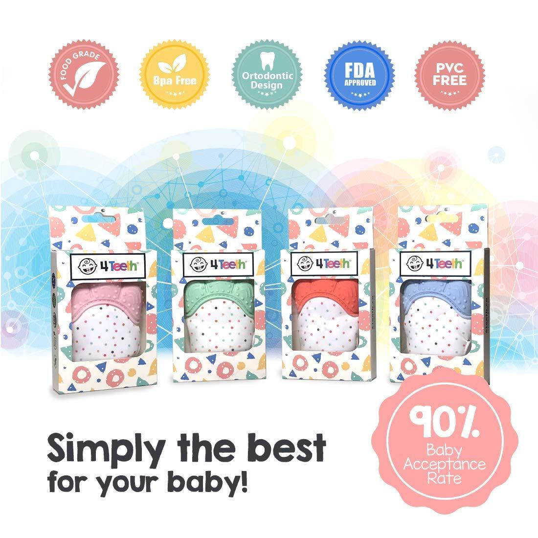 ¡Manopla de Dentición para Bebés, Juguete Premium de Silicona Suave en una Caja de Regalo! ¡Diseñado en el Reino Unido! (Menta Mágica)