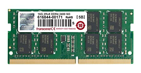 Transcend 16 GB DDR4 2400 SO-DIMM Computer Internal Memory (TS2GSH64V4B) Internal Memory Card Readers at amazon