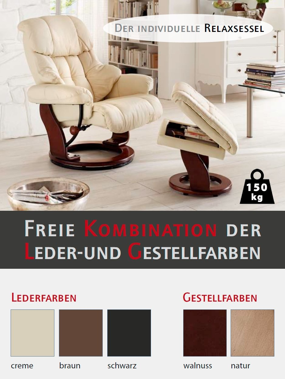relaxsessel creme gallery of fernseher relaxsessel yudana in creme wei schwarz mit hocker. Black Bedroom Furniture Sets. Home Design Ideas
