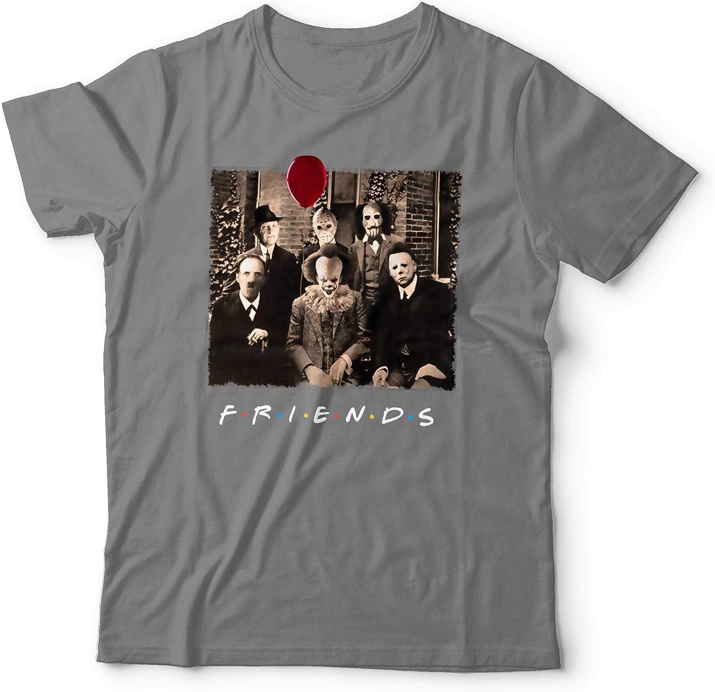 Tees In The Hood Friends - Camiseta de Disfraz de Horror para Halloween, Ajuste Holgado y tamaños Gris Gris Oscuro XL: Amazon.es: Ropa y accesorios