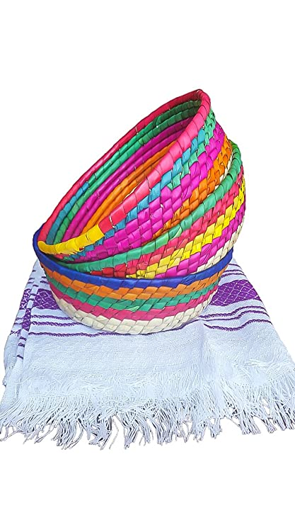 d9331299e34 Amazon.com  3Pack Handwoven Mexican baskets ideal for tortillas ...