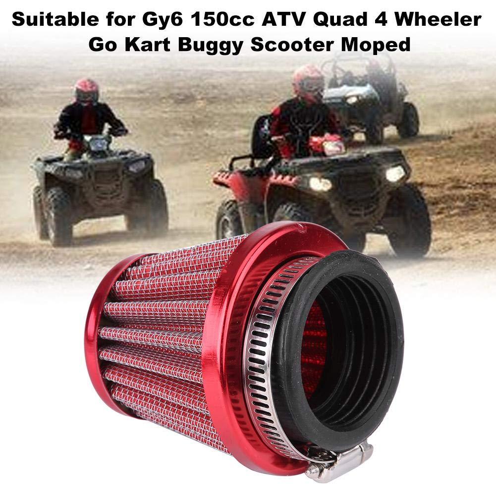Filtre /À Air Moto 44mm Filtre /À Air pour Gy6 150cc ATV Quad 4 Wheeler Go Kart Buggy Scooter Cyclomoteur Bleu