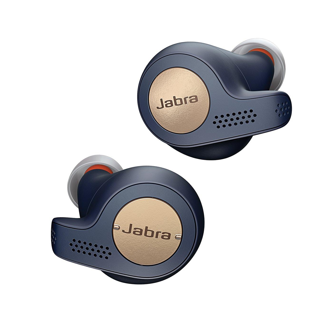 Jabra Elite Active 65t auriculares estéreo totalmente inalámbricos con Bluetooth® 5.0 y Alexa integrada, para deporte, azul y cobre