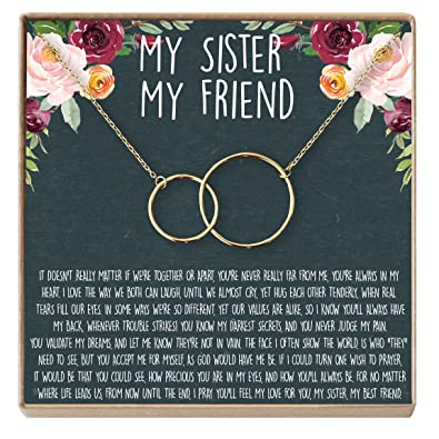 Sisters Necklace Sister Gift For Birthday Secrets