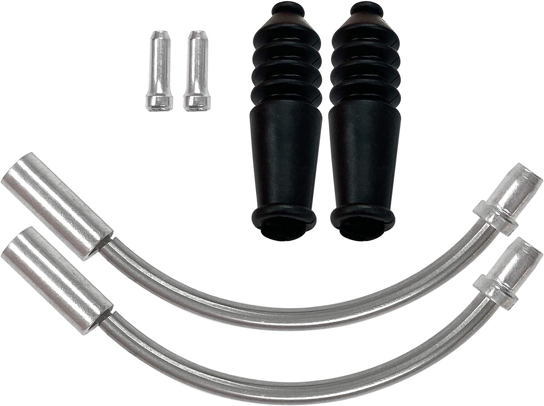 10 Pieces Durable Road Bike V Brake Noodle Guide Hose Boots Protector Sleeve Set