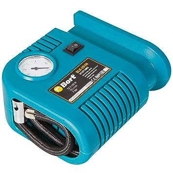 Bort BLK-251N Auto Compresor 12 V, 12 litros/Minuto, conector de encendedor de cigarrillos, incluye 3 adaptadores suplementarios: Amazon.es: Coche y moto