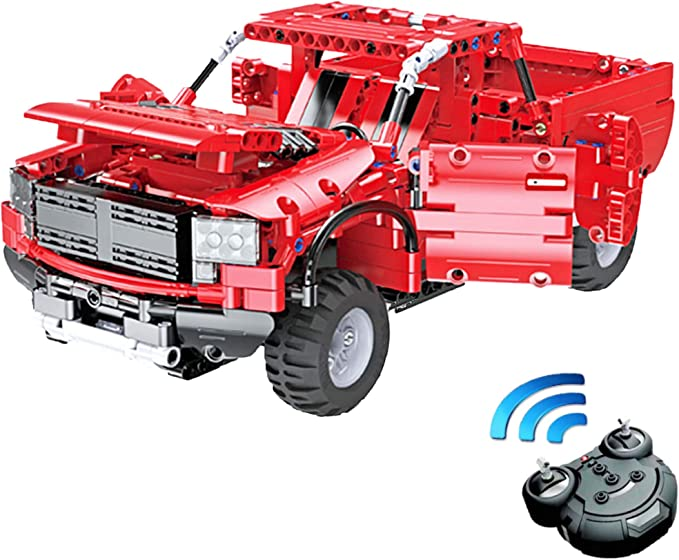 LEGO Red 7x4x2//3 Car Base with Smooth Wheels