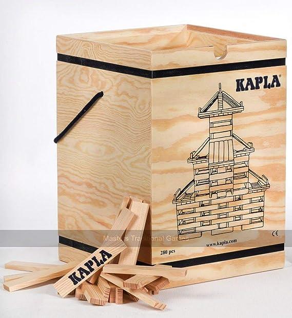 WDK Partner A1204074 Kapla - Juego de construcción (280 Bloques de Madera y 1 libreto): Amazon.es: Juguetes y juegos
