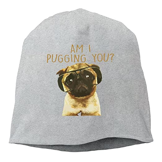 Am I Pugging You Pug Beanie Hats Knit Skull Caps Beanies For Men Women Ash be882bfafbf