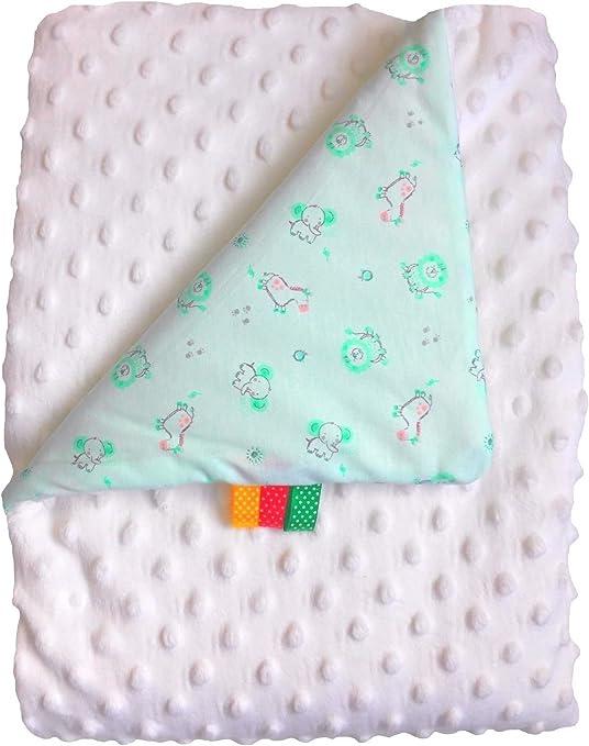 Manta bebé Minky algodón dulce Plaid Moelleuse bata polar doble ...