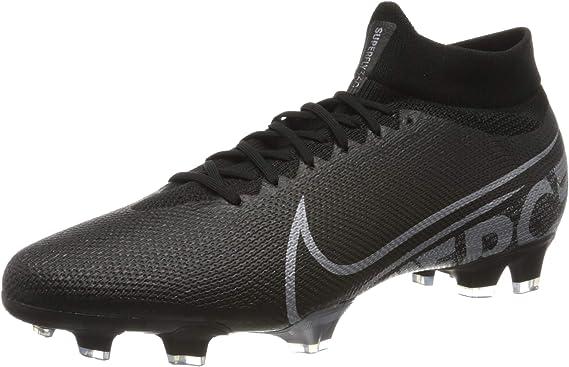 Nike Men's Superfly 7 Pro FG Soccer Cleats (Black/MTLC Cool Grey)