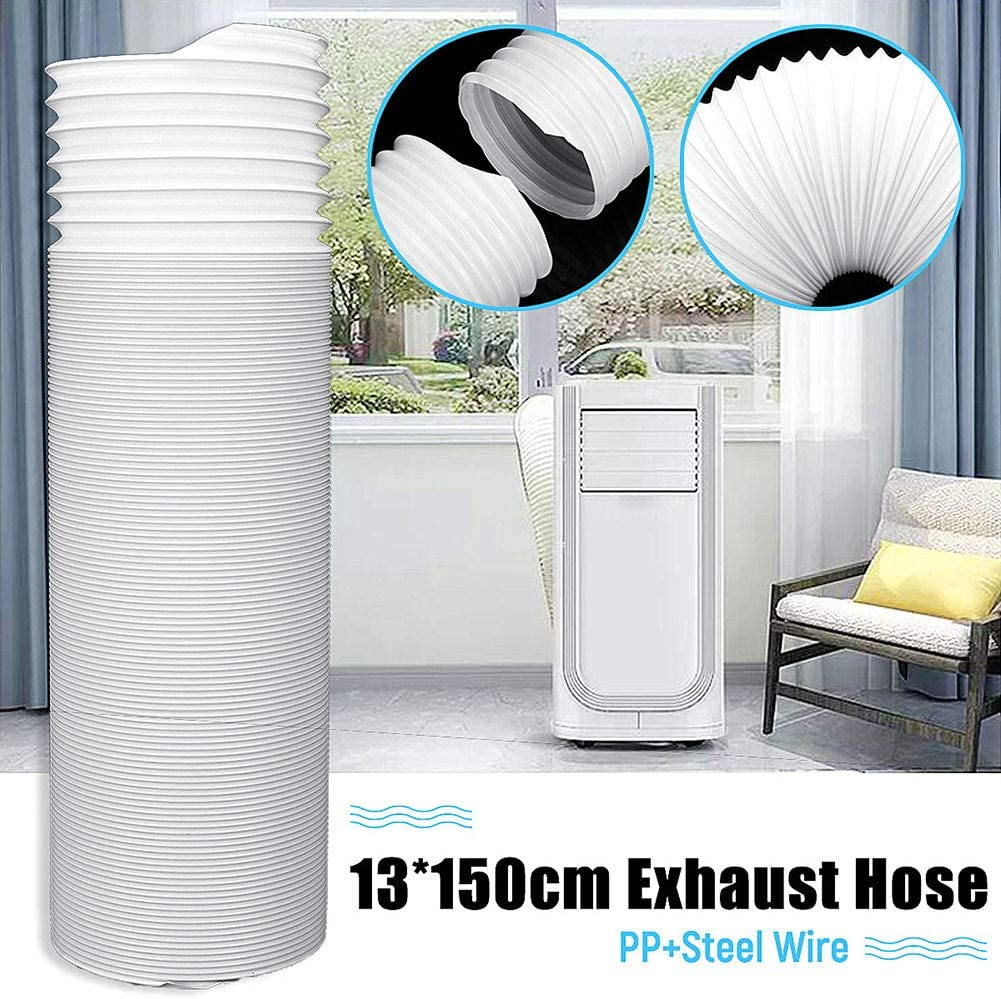 good01 13x150cm Portable Air Conditioner Exhaust Hose Vent Tube,Universal Flexible Vent Pipe Multi