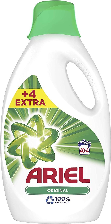Ariel Original - Detergente líquido 2.42 l, 44 lavados, buen poder ...
