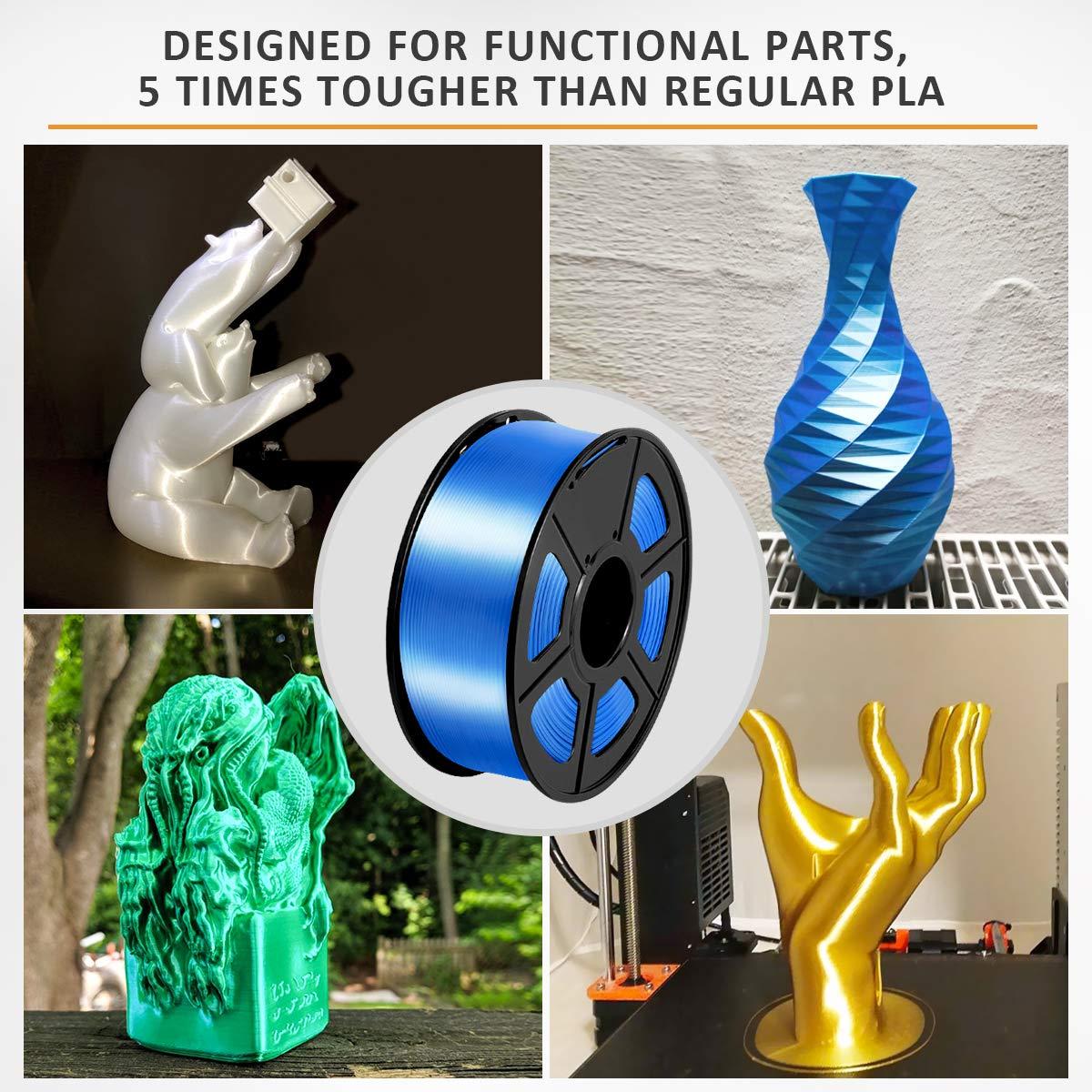 1kg 1 Spool Rouge past/èque SUNLU Silky Shiny Filament PLA 1.75mm 3D Printing Filament PLA for 3D Printer and 3D Pen 1 Rojo sand/ía