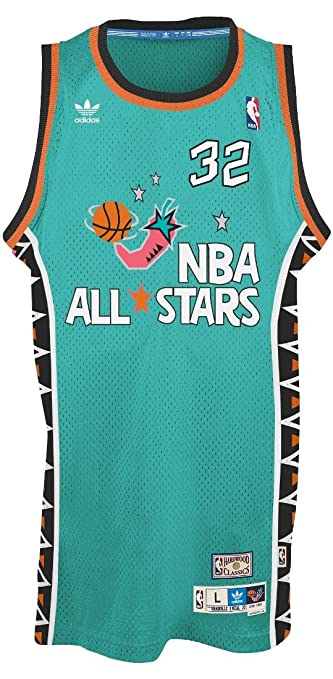 ... Shaquille ONeal Adidas NBA Throwback 1996 All-Star East Swingman Jersey  - Teal ... 3c2be8c60