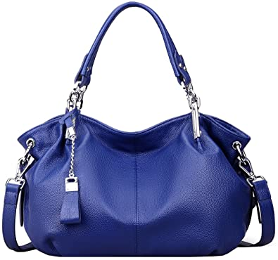 5bc60f7abca Amazon.com  Heshe Womens Leather Handbags Ladies Designer Purse Tote Bag  Top Handle Bag Hobo Bag Shoulder Bag Cross Body Bag (Blue)  Shoes