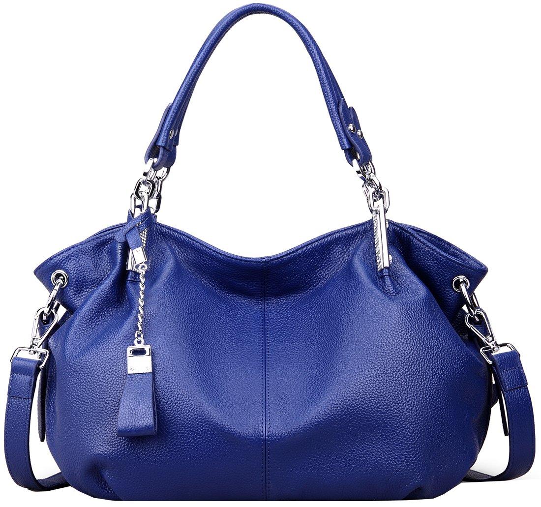 Heshe Womens Leather Handbags Ladies Designer Purse Tote Bag Top Handle Bag Hobo Bag Shoulder Bag Cross Body Bag (Blue)