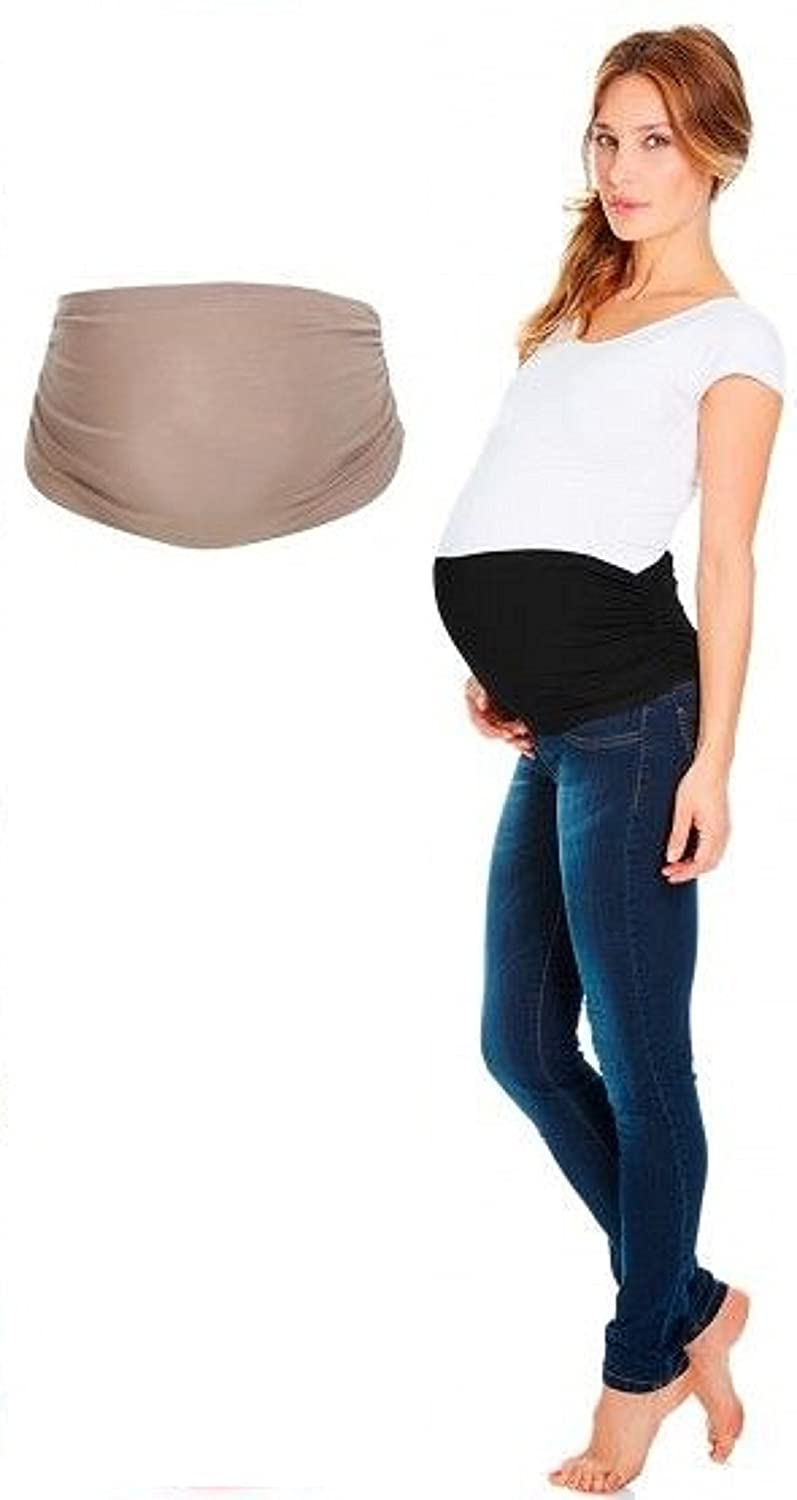 ANTI-RAYONNEMENTS Bandeau grossesse- Taille L/XL- Beige- Couleur chaire- Maternité bébé/ventre maman Protection 360°- Band nude Anti-radiations Protection 360°- Maternity pregnancy baby/Mom belly