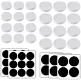 Aozita 24-Pack Plastic Mason Jar Lids - Plastic Storage Caps for Ball Jars and More - Regular Mouth Jar & Wide Mouth Jar Combo / 12 of Each - 24 Chalkboard Labels Included