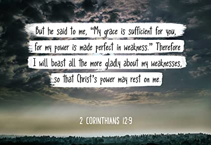 Amazon Com Bible Verse Wall Art My Grace Is Sufficient For You 2