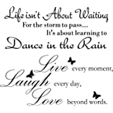 2 Sheets Live Every Moment Laugh Every Day Love Beyond Words Stickers Vinyl Wall Decals Motivational Wall Quote Sayings Stick