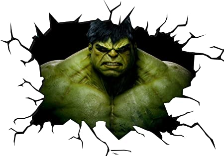 Marvel The Incredible Hulk 3D Wall Crack Wall Smash V0405 Wall ...