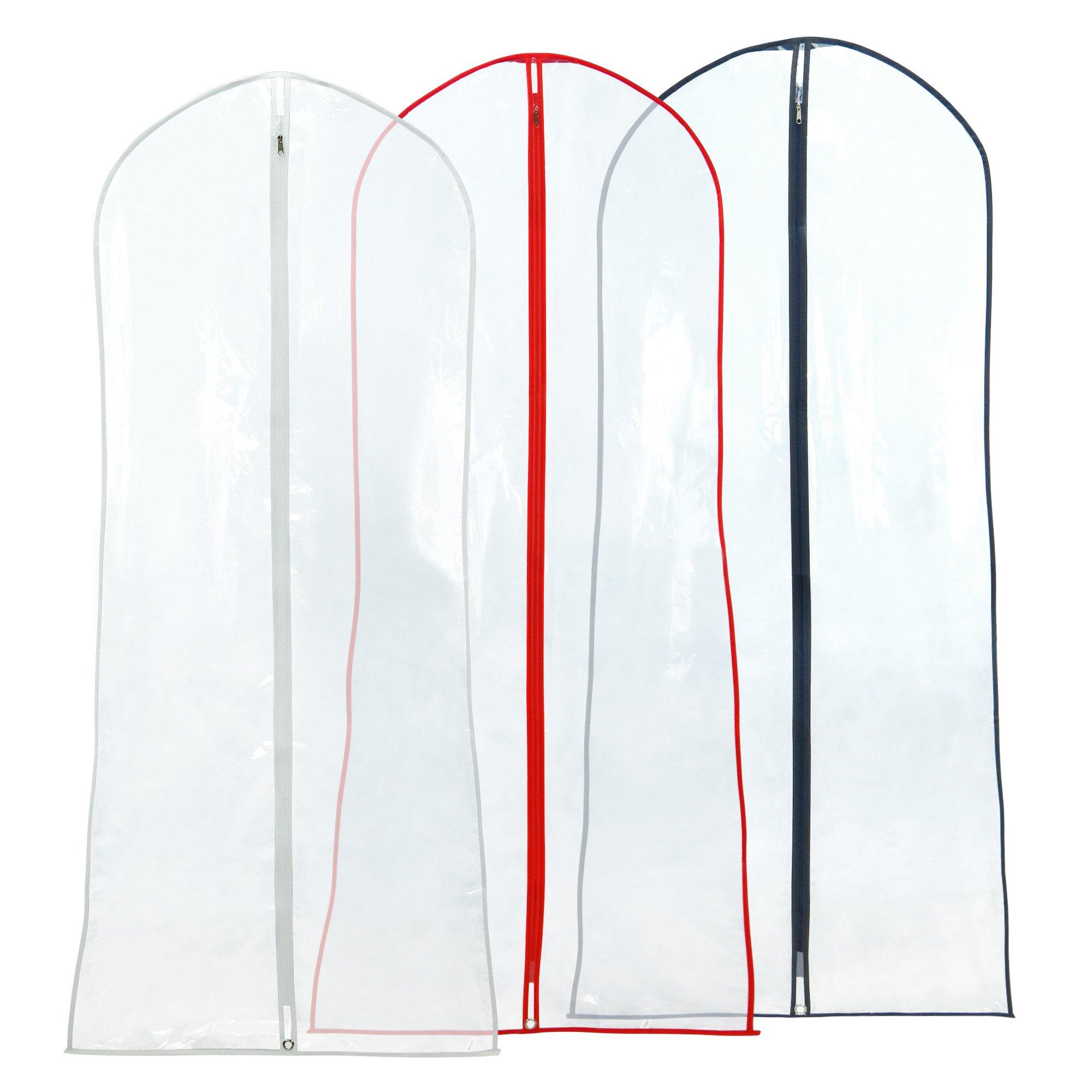 Hangerworld Juego de 3 fundas para vestidos de fiesta, trajes etc. transparente. Largo
